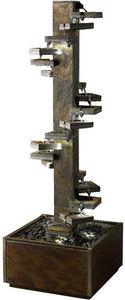 Cactose - fontaine spirale 180 en pierre de schiste 60x60x18 - Fontaine Centrale D'ext�rieur
