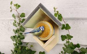 BEST FOR BIRDS - mangeoire oiseaux avec beurre de cacahuètes 15x13x - Mangeoire À Oiseaux
