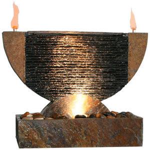 Cactose - fontaine olympe en pierre de schiste 60x27x40cm - Fontaine D'intérieur