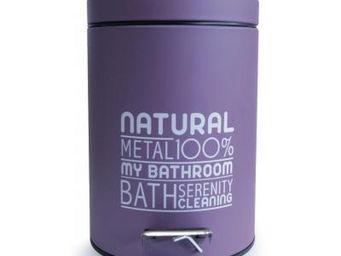 Cm - poubelle 3l natural violette - Poubelle De Salle De Bains