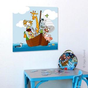 SERIE GOLO - toile imprimée drôles de moussaillons 60x60cm - Tableau Décoratif Enfant