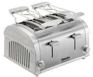 Bartscher - grille pain inox 4 tranches - Porte Grille