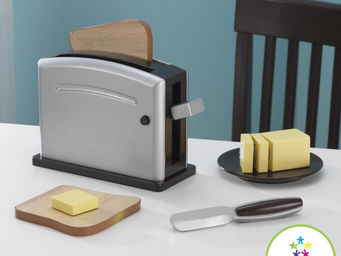 KidKraft - ensemble grille-pain expresso en bois 22x8x14cm - Jouets De Poup�e