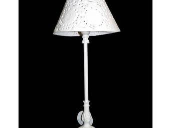 L HERITIER DU TEMPS - lampe charme aluminium ronde - Lampe De Chevet