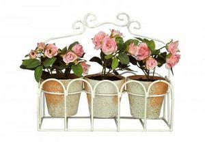 Demeure et Jardin - jardini�re de petites roses - Plante Artificielle