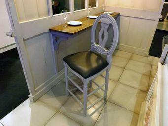 PROVENCE ET FILS - chaise hautes cotton a/d medaillon- haut 90- assis - Chaise Haute De Bar