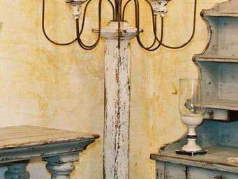PROVENCE ET FILS - candelabre ecclesia gustavien h 160h - avec porte- - Lampadaire