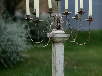 PROVENCE ET FILS - candelabre 9 bougies / pied h.60cm - Chandelier