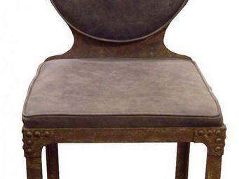 PROVENCE ET FILS - chaise nautilus / structure m�tal avec rivets / as - Chaise M�daillon