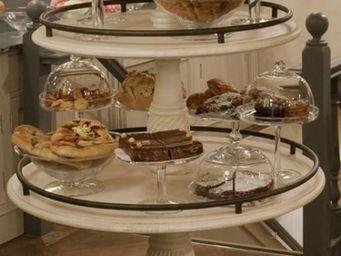 PROVENCE ET FILS - desserte circulaire champagne- 3 plateaux - diam p - Porte Douceurs