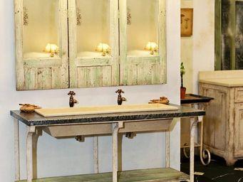 PROVENCE ET FILS - meuble de salle de bain auge 1.28 * 0.60 * h 0.83 - Meuble Vasque