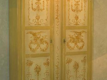 PROVENCE ET FILS - armoire bocage toile de jouy - Armoire � Portes Battantes