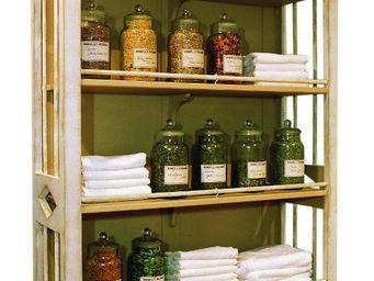 PROVENCE ET FILS - meuble-etagere restauration avec frise d�corative - Meuble De Cuisine