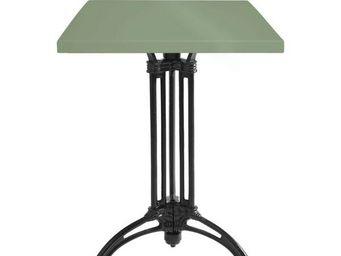 Ardamez - table de repas émaillée vert réséda / fonte - Table De Repas Carrée