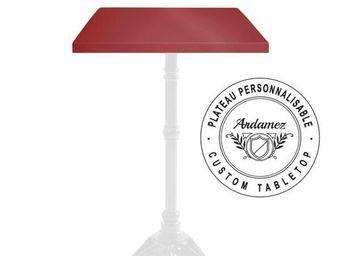 Ardamez - plateau de table �maill� sur acier / rouge - Plateau De Table