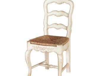 Interior's - lot de 2 chaises assise paillée - Chaise Paillée
