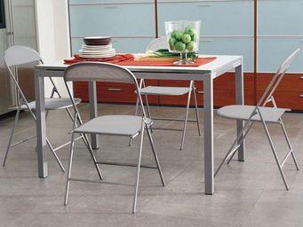 Domitalia - lot de 2 chaises pliantes sea gris clair. - Chaise Pliante