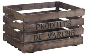 Aubry-Gaspard - caisse en bois produits du march� - Caisse De Rangement