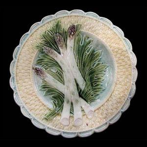 Atelier Porcelaine -  - Assiette � Asperges