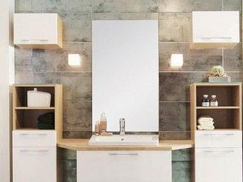 UsiRama.com - meuble sdb design multi-fonctionnel avec - Meuble Double Vasque