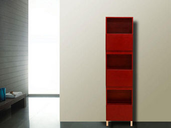 UsiRama.com - colonne de salle de bain 182cm rouge - Colonne De Rangement Simple De Salle De Bains