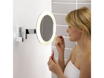 ASTRO LIGHTING - miroir grossissant lumineux mural niimi round led - Miroir Lumineux