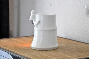 ZEN AROME - brule parfum bambou en céramique laquée - Brûle Parfum