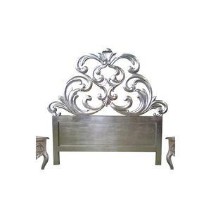 DECO PRIVE - tête de lit 160 cm sculptée bois argenté granada - Tête De Lit