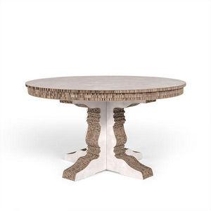 Corvasce Design - tavolo tondo columbia - Table De Repas Ronde