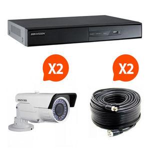 CFP SECURITE - videosurveillance pack 2 caméras kit 2 hik vision - Camera De Surveillance