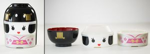 HAKOYA - kokeshi grande taille - maihime - Boîte À Bento