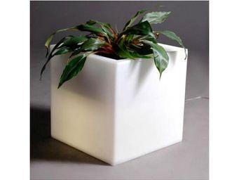 TossB - pot de fleurs cubique lumineux q - Pot Lumineux