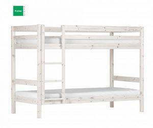 FLEXA - lit superposé flexa en pin vernis blanchi couchage - Lits Superposés