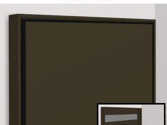 WHITE LABEL - armoire lit escamotable athena, moka mat. matelas - Armoire Lit