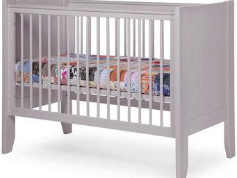 WHITE LABEL - lit bébé à barreaux 60x120cm coloris gris - Lit Pliant Bébé