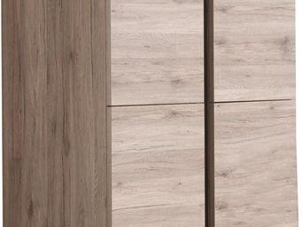 WHITE LABEL - meuble de bar à 4 portes coloris san remo rustique - Meuble Bar