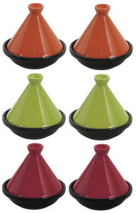 Aubry-Gaspard - 6 mini tajines en céramique 10cm - Plat À Tajine