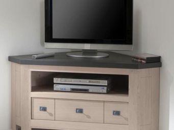 Ateliers De Langres - meuble tv d'angle whitney - Meuble Tv Hi Fi