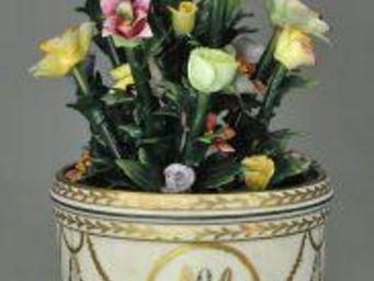 Demeure et Jardin - vase marie antoinette avec fleurs - Cache Pot
