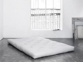 WHITE LABEL - matelas futon double latex 200*200*18cm - Futon