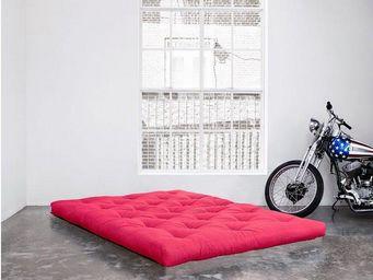 WHITE LABEL - matelas futon traditionnel rose 200*200cm - Futon