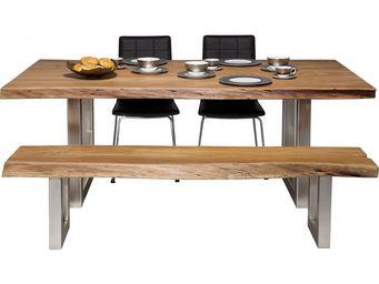 Kare Design - table en bois nature line 195x100 - Table Pique Nique