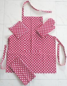 ITI  - Indian Textile Innovation - dots - red - Tablier De Cuisine