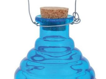 Esschert Design - piège à guêpes en verre bleu bleu - Attrape Guêpes