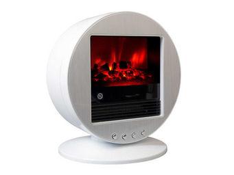 CHEMIN'ARTE - cheminée design fire bowl blanche oscillante à 90° - Cheminée Électrique