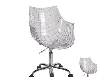 WHITE LABEL - duo de chaises - sitka - l 56 x l 58 x h 85 - plas - Chaise À Roulettes