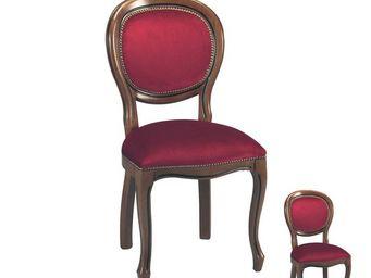 TOUSMESMEUBLES - duo de chaises m�daillon r�gence bordeaux - rigo - - Chaise M�daillon