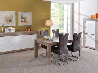 WHITE LABEL - salle à manger complète n°3 - swim - l 265 x l 92 - Salle À Manger