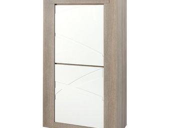 WHITE LABEL - vaisselier 2 portes - swim - l 90 x l 45 x h 160 - - Vaisselier