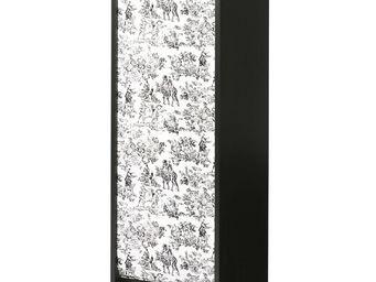 WHITE LABEL - classeur à rideaux noir - curtain n°8 - l 38 x l 3 - Armoire À Rideaux